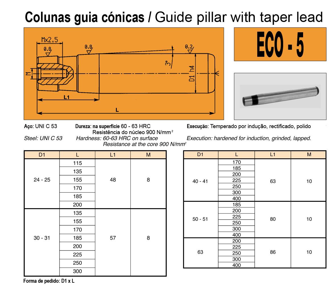 Colunas Guia ECO-5